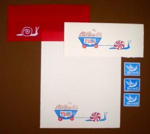 snail mail stationery set